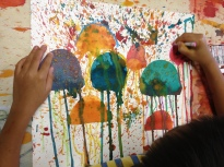 add a pinch of salt...smidge of oil pastel= perfection!